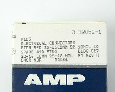Lot of (100) AMP/ TE Connectivity 8-32051-1 PIDG Spade Tongue Terminal - 22 AWG 4