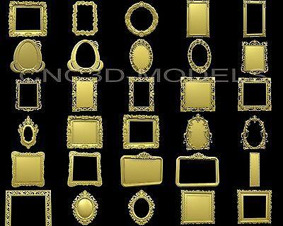 3D Model STL for CNC Router Engraver Carving Artcam Aspire Collection Frame (E1) 4