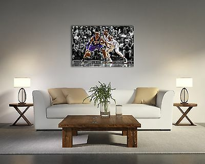 Dwyane Wade VS Kobe Bryant Painting Canvas Print Art Home Decor Wall