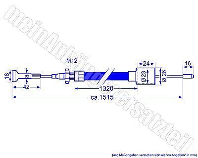 ALKO Longlife Bremsseil Bowdenzug 1320 AL-KO 1530mm mit Nippel 247287