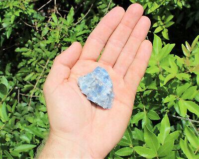 Bulk Wholesale Lot: Rough Blue Calcite 2 lb Crystal Healing Chakra Raw Chunks 5