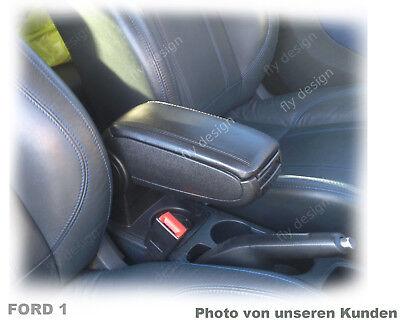 Deckel Mittelarmlehne SCHWARZ Textil Armauflage Armrest cover VW Polo 6R 2009