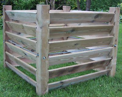 stabiler Komposter aus Holz - ca. 100x100x80 cm ca. 650 L