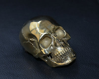 Copper Human Skull Mens Belt Buckle Brass Lost Wax casting hand polished Gift 4