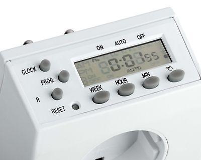 2x Zeitschaltuhr digital programmierbar - 2_X_AC_TIMER_D1 - B-Ware 03 3
