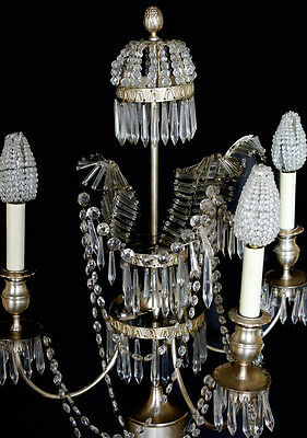 1920s Incredible Pair French Beaded Girandole Candelabra Lamps My Fav Ever! 3