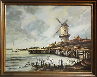 Öldruck /Leinwand des herrlichen Gemäldes:  Ruisdael Mühle am Wyck nach Ruisdael