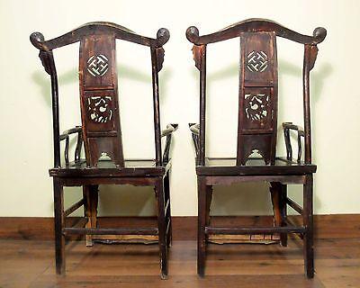 Antique Chinese High Back Arm Chairs (5569) (pair), Circa 1800-1849 10