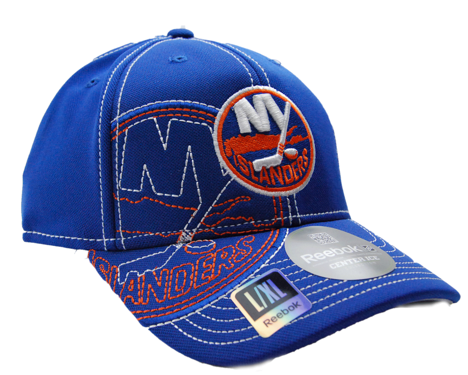 detailed look e345c d1f26 New York Islanders Reebok M250Z NHL Pro Draft Flex Fit Hockey Cap Hat L XL  3 3 of 5 See More