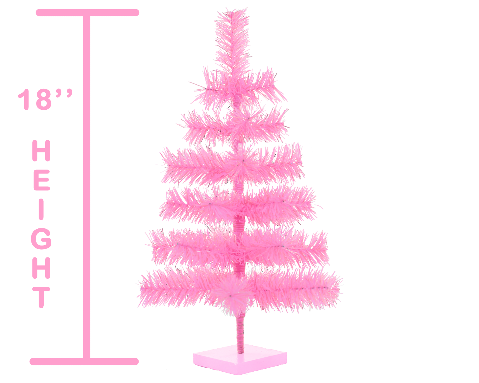 18'' Pink Barbie Tinsel Tree Christmas Holiday Tree 1.5FT Table-Top XMASS 2