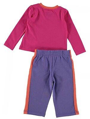 Girls CONVERSE 2 Piece L/S T Shirt & Trouser Set BNWT 18 Months Cosmos Pink 2