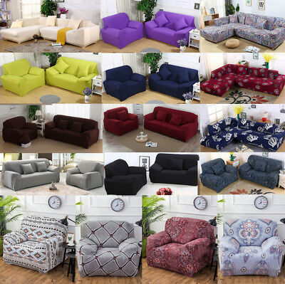 Universal Stretch Chair Sofa Covers 1 2 3 4 Seater Protector Couch Slipcover US 2