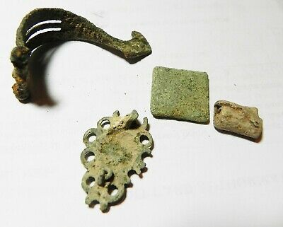 Zurqieh - As13348-  Ancient Holy Land.  Lot Of Roman Bronze Relics. 200 - 300 A. 2