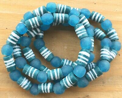 Handmade Ghana Fancy Teal Green multi bracelet-African Trade Beads-Ghana 2