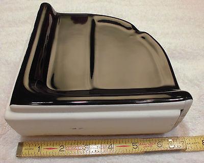 "Ceramic *Bone* Reversible Corner Bath-Shower Soap Dish-Tray-Shelf 7/"" NEW"