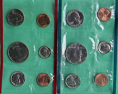 1984 US Mint Uncirculated 10 Coin Set BU Philadelphia and Denver Coins Complete 2