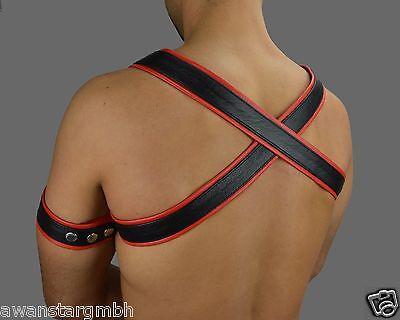 6735 Awanstar Leder harness mit absätze,Gay Leather Harness/leder Brust Harness