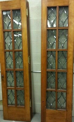 Set Of Antique Bevel Glass Bi- Fold Doors 8