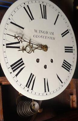 "Antique  Mahogany , Spring  Movement 8 Bells ""Gloucester "" Longcase Clock 2"