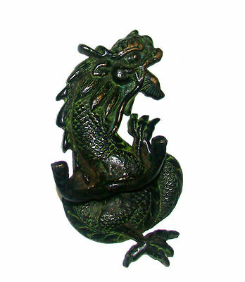 An attractive Chinese dragon designed coat hook , made of brass 2