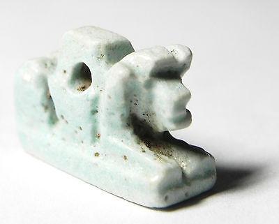 Zurqieh - Sc455- Ancient Egypt, Faience Bull Amulet , 1075 - 600 B.c 3