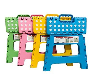Heavy Duty Plastic Step Stool Foldable Multi Purpose Home Kitchen Use 10