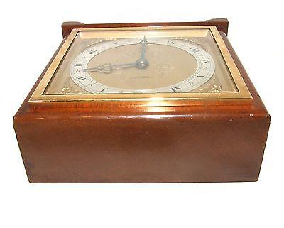 Large ELLIOTT LONDON Walnut Bracket Mantel Clock : H L BROWN & SON LTD SHEFFIELD 8