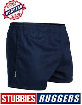 *genuine* Stubbies Ruggers Elastic Waist Drill Mens Work Shorts - Se2060 2
