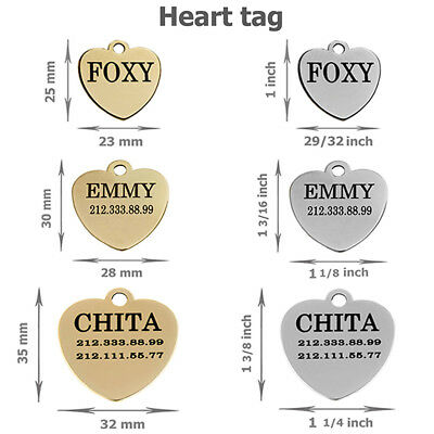 Dog ID Tag Personalized Custom Name Tags Engraving Nameplate Puppy Cat Brass 6