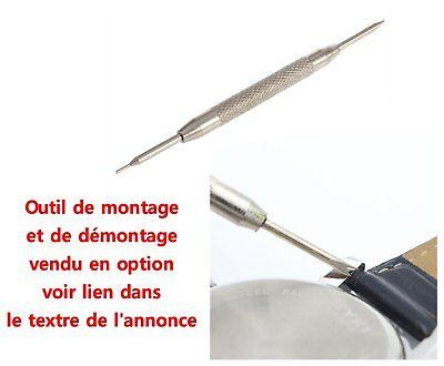 2 entre cornes barrettes ressort pompe tige piston bracelet de montre 8 à 25mm 2
