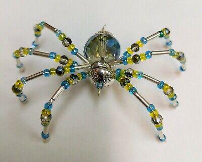 Christmas Spider Ornament w//Xmas Legend /& Gift Box Rainbow Iridescent Body