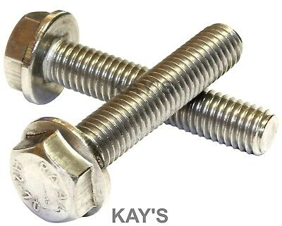 Flanged Hexagon Head Bolts Flange Hex Screws A2 Stainless Steel M5 M6 M8 M10 2