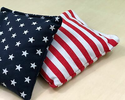Stars and Stripes - 8 Regulation Corn Hole Bags! American Flag Bag! High Quality 5