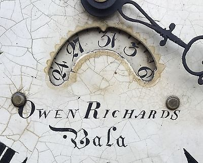 Antique Oak and Mahogany Longcase Grandfather Clock OWEN RICHARDS BALA