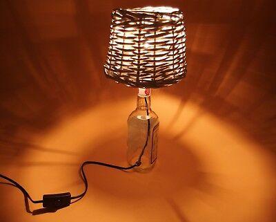 JimBeam - Flaschen Lampe Tischlampe LED 220V mit Schalter SEHR ORIGINELL S1-Korb 6