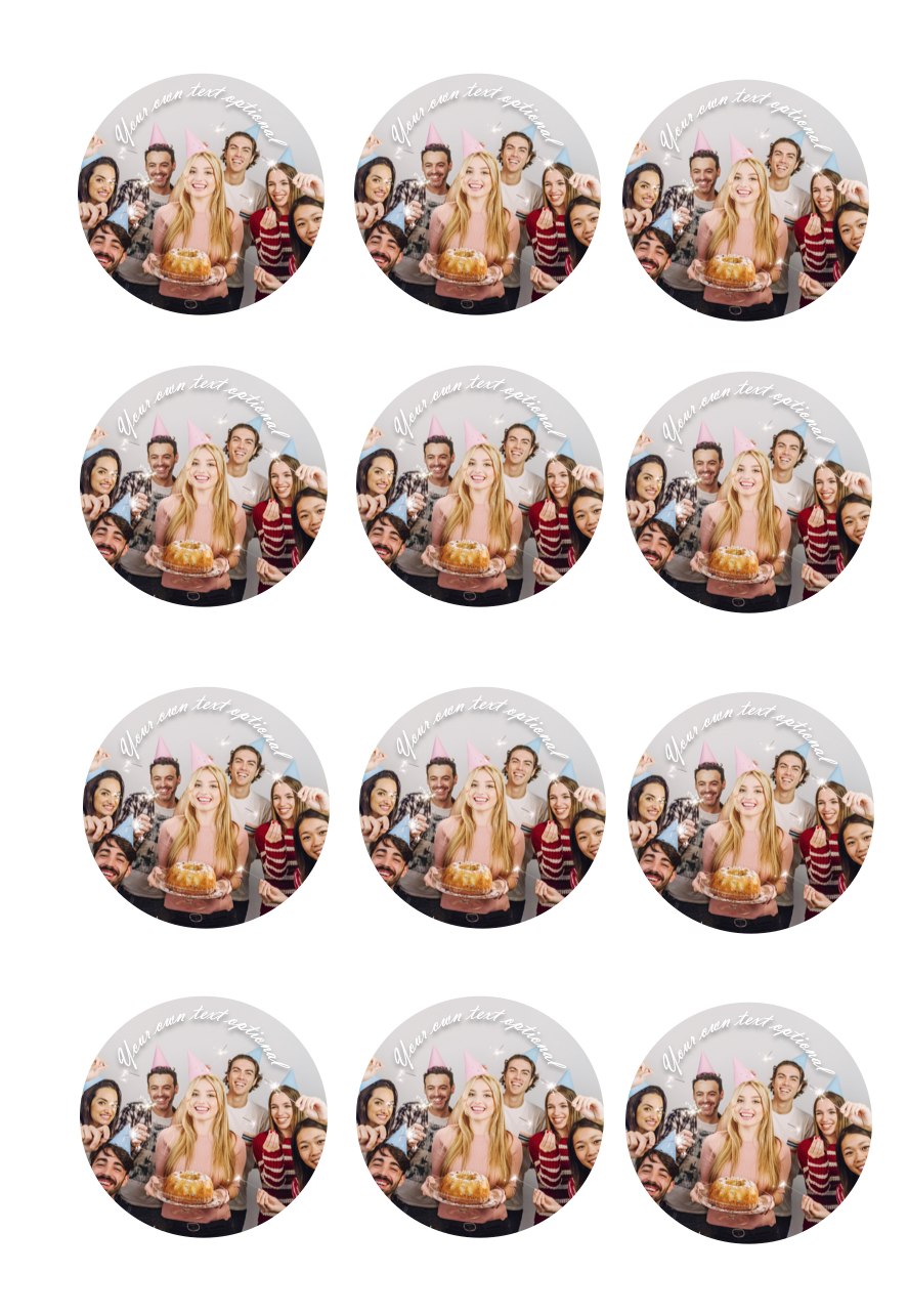 YOUR OWN EDIBLE PHOTO cupcake toppers ANY personalised image ICING OR WAFER 5