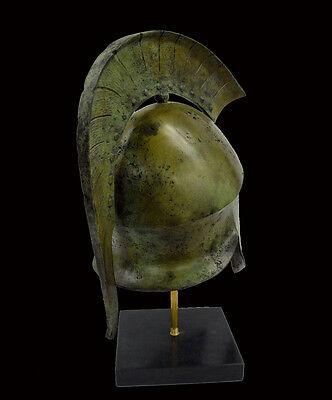 Helmet Solid Bronze Ancient Greek replica artifact 5