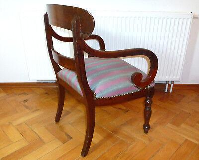 Ausgefallener alter Sessel Spätbiedermeier um 1850 7