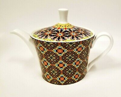 NEW GRACIE IVORY,WHITE+COLORFUL FLOWERS,FLORAL+GOLD TRIM TEA,COFFEE POT,TEAPOT