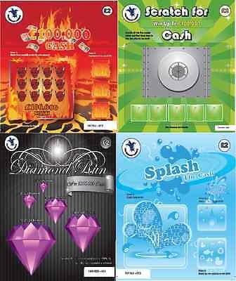 Fake Joke Lottery Scratch Cards Tickets £100,000 + £250,000 Best On Ebay!!! 2
