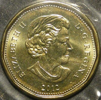 BU mint sealed Canada 2012 Lucky Loonie for Olympic $1 dollar coin 2
