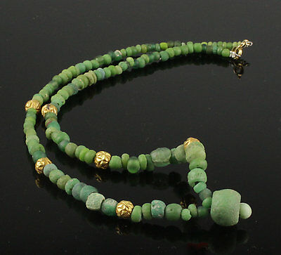 Beautiful Ancient Roman Glass & Gold Bead Necklace - Circa 2Nd Century Ad 2