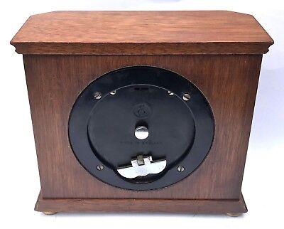 ELLIOTT LONDON Walnut & Burr Walnut Bracket Mantel Clock RUSSELLS LTD 3