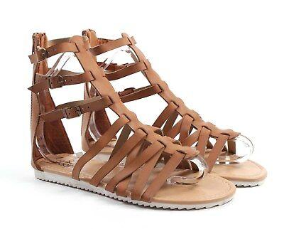 Ladies Gladiator Sandals, Leather Look (2 Colourways) *** Free P&P 9