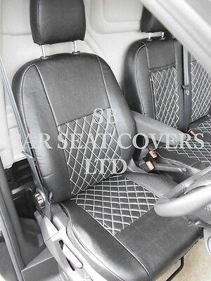 To Fit A Ford Transit Custom Van, Seat Covers, Rhd, Rossini Black Diamond 3
