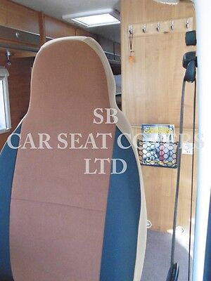 To Fit A Ford Transit Motorhome, 2004, Seat Covers, Tan Suede Mh-001, 2 Fronts 5
