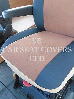 To Fit A Ford Transit Motorhome, 2004, Seat Covers, Tan Suede Mh-001, 2 Fronts 7