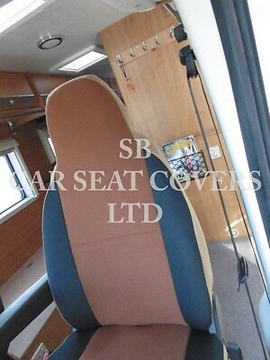 To Fit A Ford Transit Motorhome, 2004, Seat Covers, Tan Suede Mh-001, 2 Fronts 4