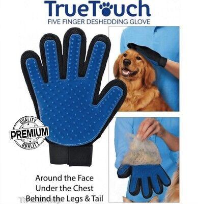 X2 True Touch Guanto Spazzola Cardatore Elimina Peli Massaggiante Cani Gatti