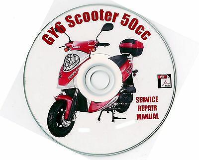 chinese scooter 50cc gy6 service repair shop manual cd lancer atm50 rh picclick com Gas Scooters 50Cc 50Cc Chinese Scooter Parts